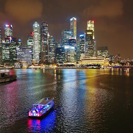 Night Waterfront by Koh Chip Whye - City,  Street & Park  Night (  )