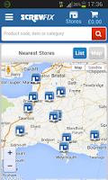 Screenshot of Screwfix Shopping