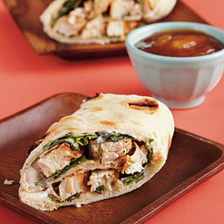 Chicken Wraps with Mango Chutney