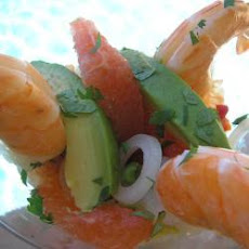 Spicy Prawn, Avocado And Grapefruit Salad