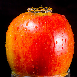 Apple Crown by Mike Driscoll - Food & Drink Fruits & Vegetables ( water, drip, splash, apple, crown )