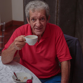 Anyone for Coffee? by Nicholas Sykes - People Portraits of Men