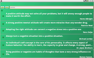 Screenshot of Positive Thinking