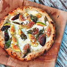 Pizza With Figs, Mozzarella, and Goat's Milk Feta