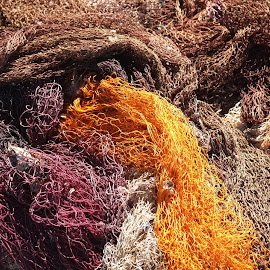 Fishermen's Net by Rüstem Baç - Abstract Patterns ( fishermen, seas, fishermen net, colorful, fishing season )