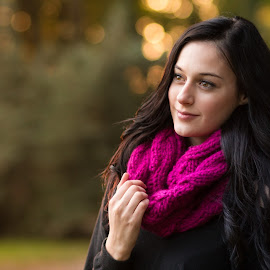 A walk in the park by Christian Holzinger - People Portraits of Women ( park, linz, autumn, fall, austria )