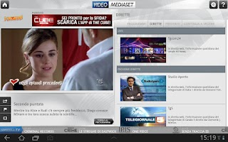 Screenshot of VideoMediaset HD