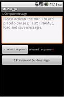 Screenshot of SMeSsaggia bulk customized SMS