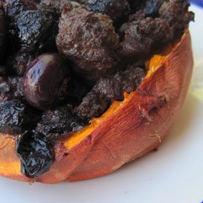 Blueberry Breakfast Stuffed Sweet Potatoes