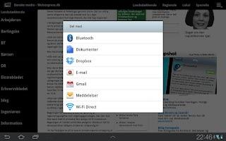 Screenshot of Danish media (Tablet)