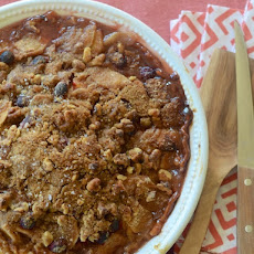 Apple, Pear & Cranberry Pie with Walnut Streusel