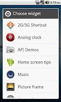 Screenshot of 2G/3G Shortcut - Screen Widget