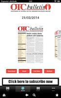 Screenshot of OTC bulletin-i