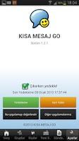 Screenshot of KISA MESAJ GO