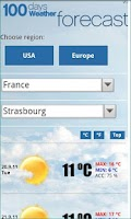 Screenshot of FREE 100days Weather USA & EU
