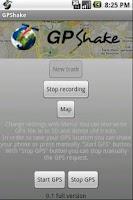Screenshot of GPShake Lite