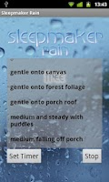 Screenshot of Sleepmaker Rain