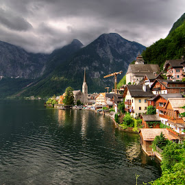 Hallstatt, Austria by Greg Gibb - City,  Street & Park  Vistas ( eu, mountains, europe, lake, hallstatt, travel, morning, austria )