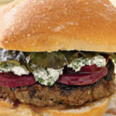 Goat Cheese Burgers with Beets