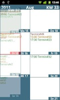 Screenshot of Weekly Calendar