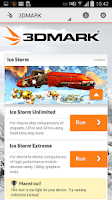 Screenshot of 3DMark Ice Storm Benchmark