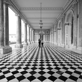 Versailles pattern  by Benjamin Arthur - Buildings & Architecture Other Exteriors ( checkers, benjiearthur, arches, versailles, france )