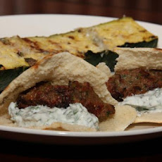 Meatballs With Grilled Pitas and Mint Yogurt Sauce