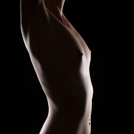 Shape by Ulrik Gilberg - Nudes & Boudoir Artistic Nude ( nude, low key, female, woman, light, sensual )