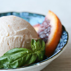 Julia's Blood Orange and Basil Ice Cream