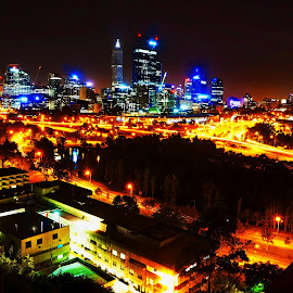 Perth City, Australia by J'Adrian Lim - City,  Street & Park  City Parks