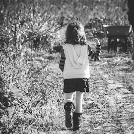 A walk in Autumn by Jenny Hammer - Babies & Children Children Candids ( child, walking, girl, autumn, fall )