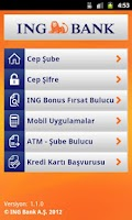 Screenshot of ING Mobil