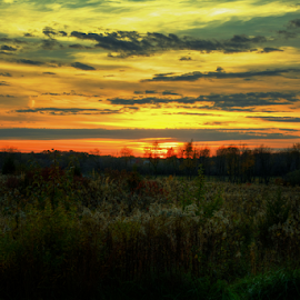 Sunset at Hawks Hollow by Rick Touhey - Landscapes Sunsets & Sunrises ( sunset, hawks hollow, landscape )
