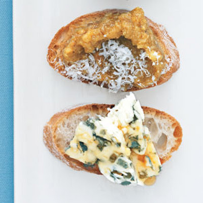Blue Cheese and Honey Bruschetta
