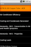 Screenshot of HVAC