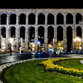 El acueducto de noche by Eduardo Menendez Mejia - Buildings & Architecture Public & Historical ( españa, tokina 12-24, segovia, noche, menendez, eduardo, nikon, d5100, spain, acueducto )