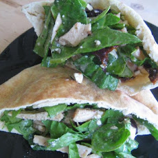Greek Pita Sandwich With Italian Dressing