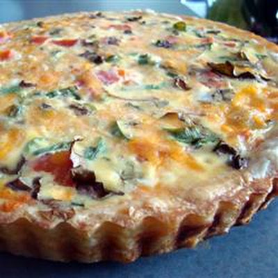 Clinton's Special Vegetarian Quiche