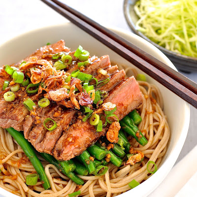 Soba with Green Beans and Beef