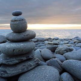 by Cheryl Quine - Artistic Objects Still Life ( pebbles, seaside, beach, rocks )
