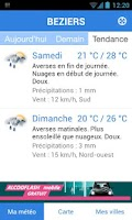 Screenshot of Météo Pocket
