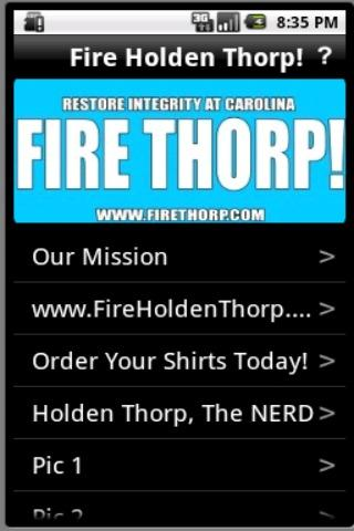 Fire Holden Thorp
