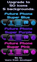 Screenshot of Future Phone Blue Theme Free