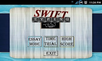 Screenshot of Swift Typing Test