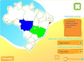 Screenshot of Estados e Capitais do Brasil