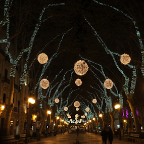 Holiday Lights by Peter Wabbel - City,  Street & Park  Night ( masterofhemoment, palmademallorca, christmas, weihnachten, pwc85, lights, beleuchtung, holiday lights, navidad, night, iluminacion, nacht, peterwabbel )