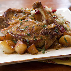 Cider-Braised Pheasant with Pearl Onions and Apples