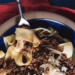 Homemade Pappardelle with Bolognese Sauce