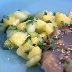 Chicken with Jerk Sauce and Cool Pineapple Salsa