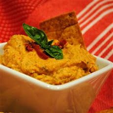 Quick Sun-Dried Tomato and Basil Hummus